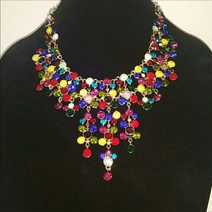 Gorgeous Natasha Statement Multi-colored Necklace